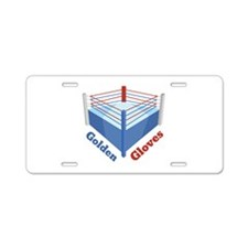 Golden Gloves Aluminum License Plate