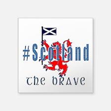 Hashtag Scotland Blue Tartan Brave Sticker