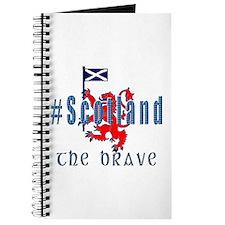 Hashtag Scotland Blue Tartan Brave Journal