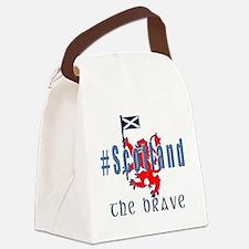 Hashtag Scotland blue tartan brave Canvas Lunch Ba