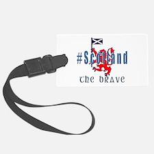 Hashtag Scotland Blue Tartan Luggage Tag