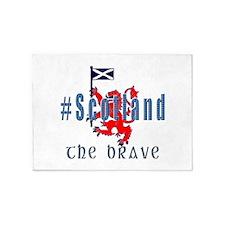 Hashtag Scotland blue tartan brave 5'x7'Area Rug