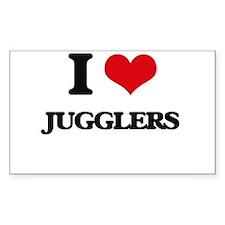 I love Jugglers Decal