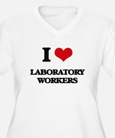 I love Laboratory Workers Plus Size T-Shirt