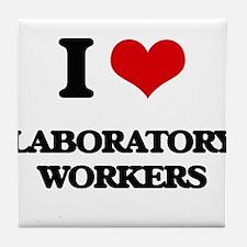 I love Laboratory Workers Tile Coaster