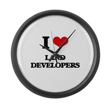 I love Land Developers Large Wall Clock