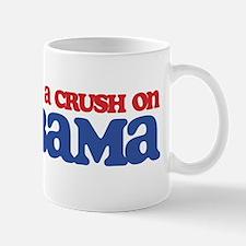 I Got a Crush on Obama (Kiss) Mug