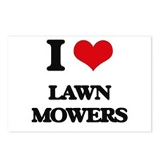 I love Lawn Mowers Postcards (Package of 8)