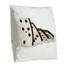 Dominos Burlap Throw Pillow