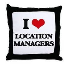 I love Location Managers Throw Pillow