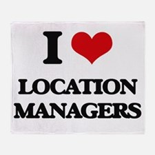 I love Location Managers Throw Blanket