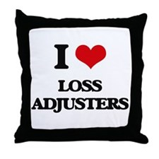 I love Loss Adjusters Throw Pillow