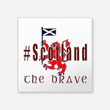 Hashtag Scotland Red Tartan Brave Sticker