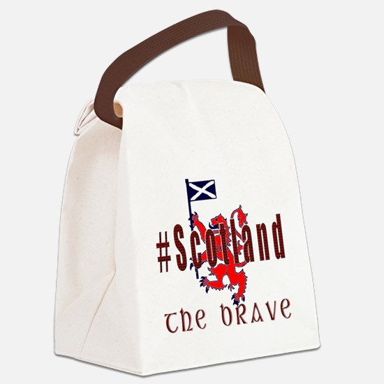 Hashtag Scotland red tartan brave Canvas Lunch Bag