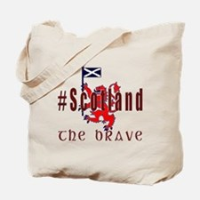Hashtag Scotland Red Tartan Brave Tote Bag