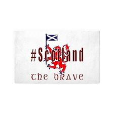 Hashtag Scotland Red Tartan Brave 3'x5' Area Rug