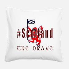 Hashtag Scotland red tartan brave Square Canvas Pi