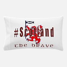 Hashtag Scotland Red Tartan Brave Pillow Case