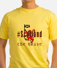 Hashtag Scotland Red Tartan Brave T-Shirt