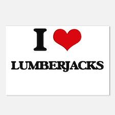 I love Lumberjacks Postcards (Package of 8)