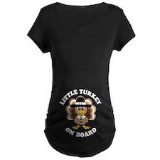 Little Turkey On Board Maternity T-Shirt