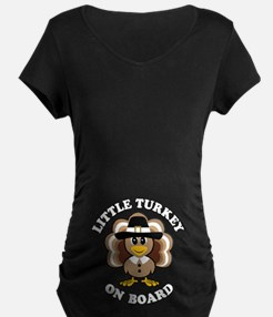 Little Turkey On Board Maternity T-Shirt