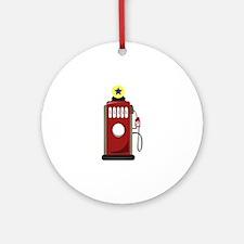 Gas Pump Ornament (Round)