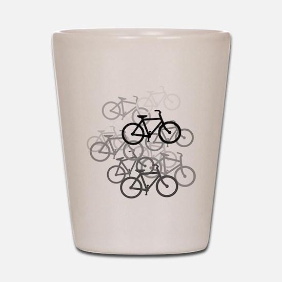 Bicycles Shot Glass