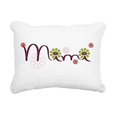 Mimi Flowers Rectangular Canvas Pillow