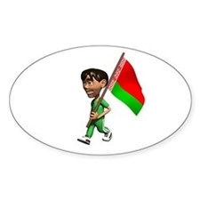 Belarus Boy Oval Decal