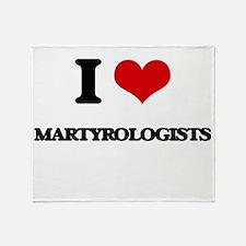I love Martyrologists Throw Blanket
