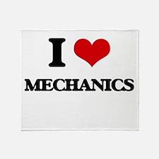 I love Mechanics Throw Blanket