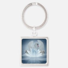 Swan Song Fantasy Art Square Keychain Keychains