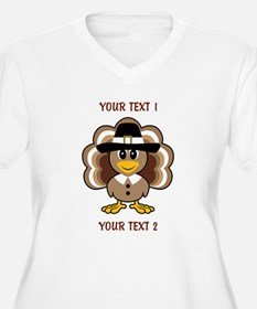 Personalized Baby Turkey-Pilgrim Plus Size T-Shirt
