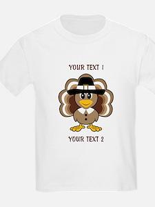 Personalized Baby Turkey-Pilgrim T-Shirt
