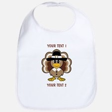 Personalized Baby Turkey-Pilgrim Bib