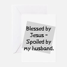 Blessed by Jesus Greeting Cards (Pk of 10)