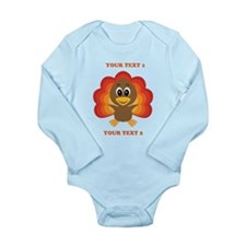 Personalized Baby Turk Long Sleeve Infant Bodysuit