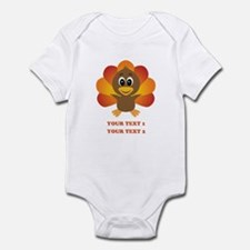Personalized Baby Turkey Infant Bodysuit