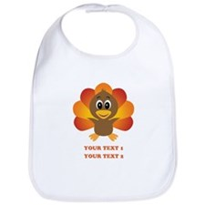 Personalized Baby Turkey Bib