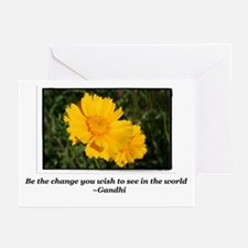 Be The Change-Gandhi Greeting Cards (Pk of 10)