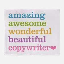 Amazing Copywriter Throw Blanket