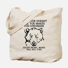 Bears Will Kill You Tote Bag