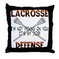 Lacrosse Defense Throw Pillow
