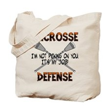 Lacrosse Defense Tote Bag