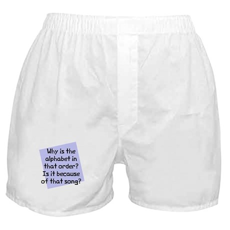 Alphabet in that order Boxer Shorts