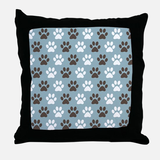 Paw Print Pattern Throw Pillow