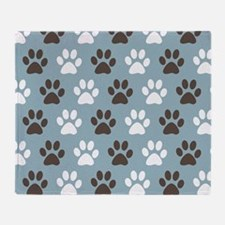 Paw Print Pattern Throw Blanket