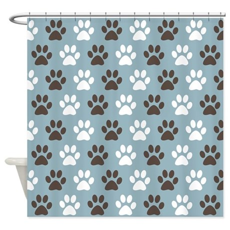 Paw Print Pattern Shower Curtain By Oddmatterhome