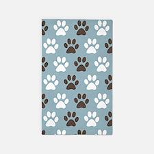 Paw Print Pattern 3'x5' Area Rug